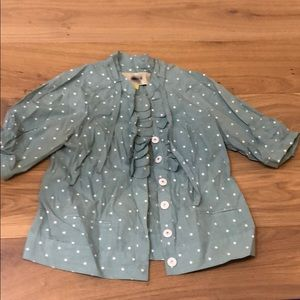 Anthropologie - Leifsdottir dot blouse - size 6